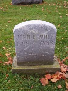John F Wolf Maple Hill cemetery Hinckley Medina OH