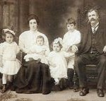 tn_Bartholomew Brady family. Julia Agnes, Mary Polly, baby Bart Jr, Katherine MAry, Thomas Joseph, Bart