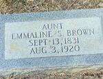 Emmaline S Brown